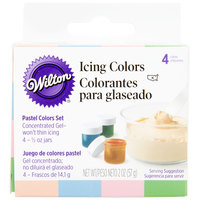 Wilton 601-25588 4-Pack of .5 oz. Pastel Gel Food Colors - 4/Pack
