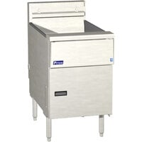 Pitco SE184R-VS5 60 lb. Solstice Electric Floor Fryer with 5 inch Touchscreen Controls - 22kW