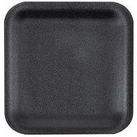 Genpak 1001S (#1S) Foam Meat Tray Black 5 1/4 inch x 5 1/4 inch x 1/2 inch - 125/Pack