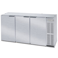 Beverage-Air BB72Y-1-S-PT 72 inch Stainless Steel Solid Door Pass-Through Back Bar Refrigerator