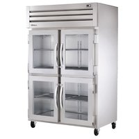 True STR2R-4HG Specification Series Two Section Reach In Refrigerator with Four Glass Half Doors - 56 Cu. Ft.