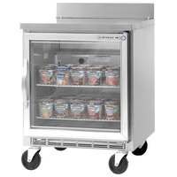 Beverage-Air WTF24A-25 24'' Single Glass Door Worktop Freezer - 7 cu. ft.