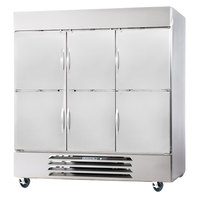 Beverage-Air FB72-5HS 75 inch Vista Series Three Section Solid Half Door Reach-In Freezer - 72 cu. ft.