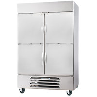 Beverage-Air HBR44-1-HS 47 inch Horizon Series Two Section Solid Half Door Reach-In Refrigerator - 44 cu. ft.