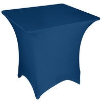 Marko EMB5026S3030062 Embrace 30 inch Square Cadet Blue Spandex Table Cover