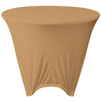 Marko EMB5026R48049 Embrace 48 inch Round Sandalwood Spandex Table Cover