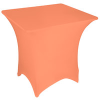Marko EMB5026S3636030 Embrace 36 inch Square Peach Spandex Table Cover