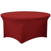 Marko EMB5026R60046 Embrace 60 inch Round Burgundy Spandex Table Cover