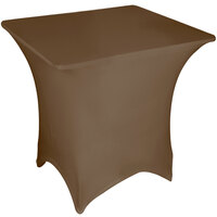 Marko EMB5026S5454515 Embrace 54 inch Square Chocolate Spandex Table Cover