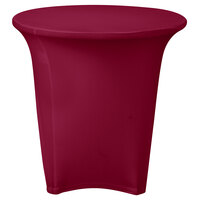 Marko EMB5026R30046 Embrace 30 inch Round Burgundy Spandex Table Cover