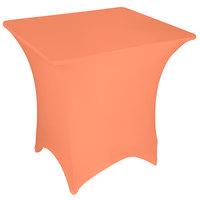 Marko EMB5026S5454030 Embrace 54 inch Square Peach Spandex Table Cover