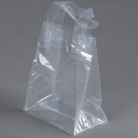 6 3/4 inch x 4 3/4 inch x 8 1/2 inch Polypropylene Soft Loop Handle Bag - 200/Case