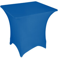 Marko EMB5026S6060062 Embrace 60 inch Square Cadet Blue Spandex Table Cover