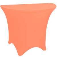 Marko EMB5026HR60030 Embrace 60 inch Half Round Peach Spandex Table Cover