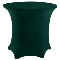Snap Drape CC48R-HUNTER GREEN Contour Cover 48 inch Round Hunter Green Spandex Table Cover