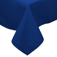 54 inch x 54 inch Royal Blue 100% Polyester Hemmed Cloth Table Cover