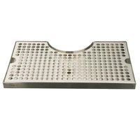 Micro Matic DP-920 7 inch x 12 inch Stainless Steel Surface Mount Drip Tray with 3 inch Column Cutout