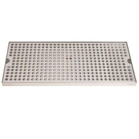 Micro Matic DP-820D-18 8 inch x 18 inch Stainless Steel Surface Mount Drip Tray with Drain