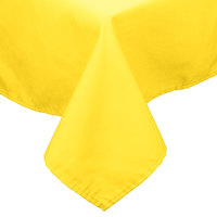 54 inch x 114 inch Yellow 100% Polyester Hemmed Cloth Table Cover
