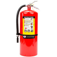 Badger Advantage ADV-20 18 lb. Dry Chemical ABC Fire Extinguisher with Wall Bracket - Untagged and Rechargeable - UL Rating 6-A:80-B:C