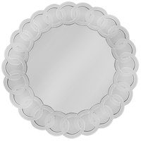 The Jay Companies 14 inch Round Scroll Glass Mirror Charger Plate