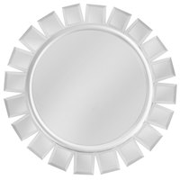 The Jay Companies 14 inch Round Glass Mirror Charger Plate with Silver Accents