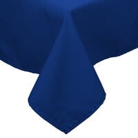 72 inch x 120 inch Royal Blue 100% Polyester Hemmed Cloth Table Cover
