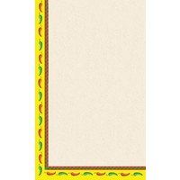 8 1/2 inch x 14 inch Menu Paper - Southwest Themed Mariachi Design Left Insert - 100/Pack