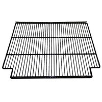 True 909150 Black Coated Wire Notched Shelf Kit - 24 1/4 inch x 23 1/2 inch