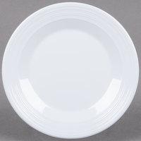 GET PT-6-MN-W Minski 6 1/2 inch White Melamine Textured Rim Plate - 48 / Case