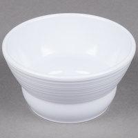 GET B-10-MN-W Minski 8 oz. White Melamine Textured Rim Bowl - 12 / Case