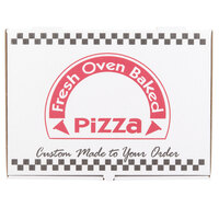 17 inch x 25 inch White Corrugated Pizza Box - 25 / Case