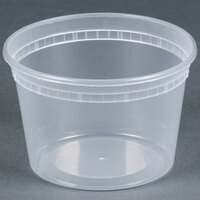 16 oz. Newspring SD5016Y DELItainer Translucent Round Deli Container - 40/Pack