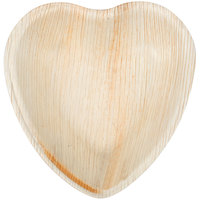 Eco-gecko Sustainable 4 1/2 inch Heart Palm Leaf Plate - 25 / Pack