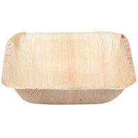 Eco-gecko Sustainable 4 inch Square Palm Leaf Bowl - 200 / Case
