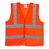 Orange Class 2 High Visibility Safety Vest - Large