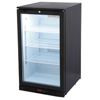 Beverage-Air CTF96-1-B-LED Black Countertop Display Freezer with Glass Door - 6.8 Cu. Ft.