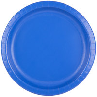 Creative Converting 503147B 10 inch Cobalt Round Paper Banquet Plate - 240/Case