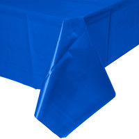 Creative Converting 723147B 54 inch x 108 inch Cobalt Disposable Plastic Table Cover - 24 / Case
