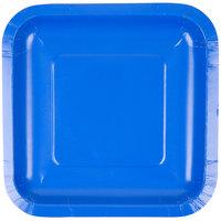 Creative Converting 453147 7 inch Cobalt Square Paper Plate - 180 / Case