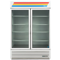 True GDM-49-HC~TSL01 White Glass Door Refrigerated Merchandiser with LED Lighting