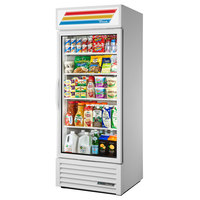 True GDM-26-HC~TSL01 White Glass Door Refrigerated Merchandiser with LED Lighting