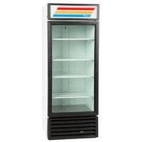 True GDM-26-HC-LD White Glass Door Refrigerated Merchandiser with LED Lighting