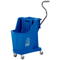 Continental 351BL 35 Qt. Blue Unibody Mop Bucket with Built-In Wringer