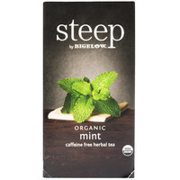 Steep By Bigelow Organic Mint Herbal Tea - 20/Box