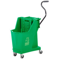 Continental 351GN 35 Qt. Green Unibody Mop Bucket with Built-In Wringer