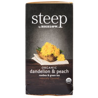 Steep By Bigelow Organic Dandelion and Peach Tea - 20 / Box