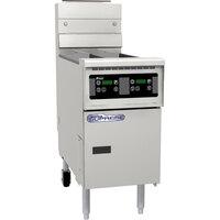 Pitco SSH60W-D Solofilter Solstice Supreme 50-60 lb. Gas Floor Fryer with Digital Controls - 100,000 BTU