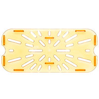 Carlisle 3087013 1/3 Size Amber High Heat Drain Tray
