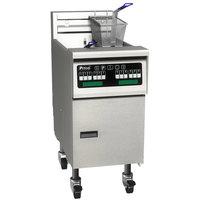 Pitco SELV14T-C/FD Solstice 30 lb. Reduced Oil Volume / High Output Split Pot Electric Fryer with Intellifry Computer Controls and Filter Drawer - 17 kW